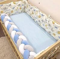 Бортики в детскую кроватку, защитные бортики, стеганные бортики