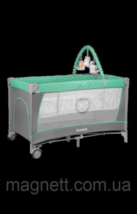 Кроватка-манеж Lionelo FLOWER TURQUOISE