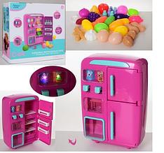 Холодильник муз/свет, розовый