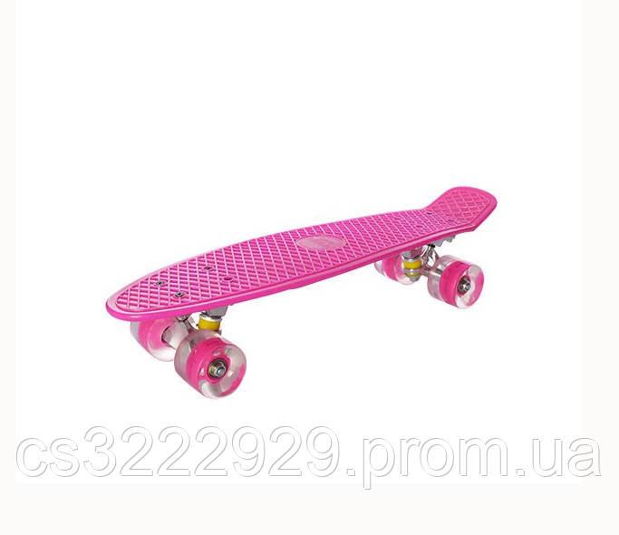 Детский скейт пенни-борд METR+ MS 0848-5 (Розовый)