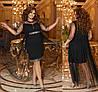 Р 50-64 Вечернее платье с прозрачной накидкой Батал 22851