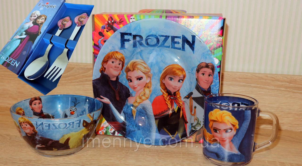 Детская посуда 5в1 Холодное Сердце Анна
