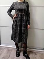 Платье женское клетчатое серо-зелёное Fashion Look Размер 46-48