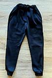Дитячі ЧОРНІ теплі спортивні штани з трініті, фото 2