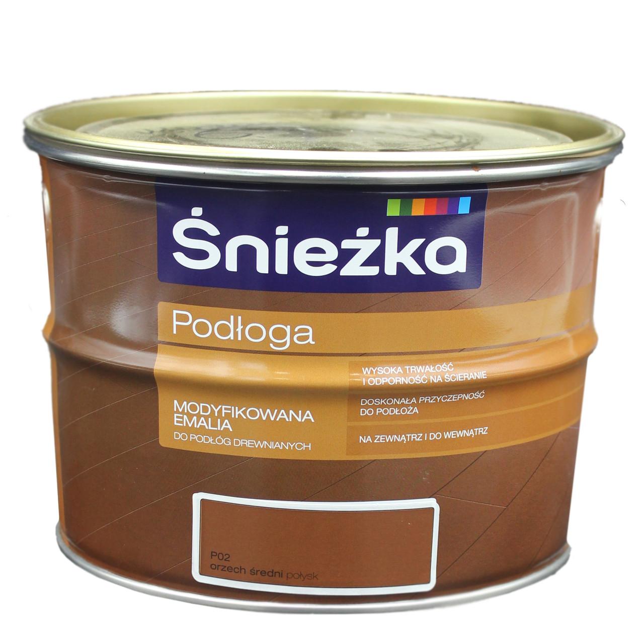 Фарба Sniezka підлога горіх середній 2,5л