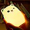 Силиконовый ночной светильник Котик (7 цветов свечения), фото 2