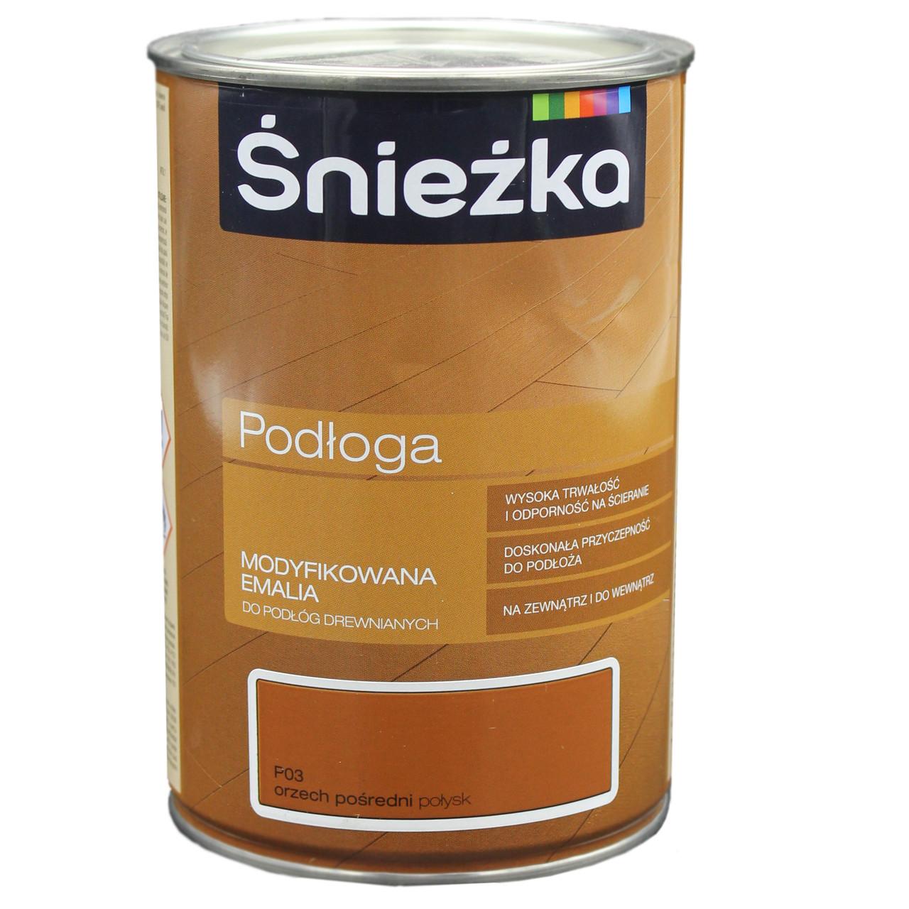 Фарба Sniezka підлога горіх посередній 1,0л