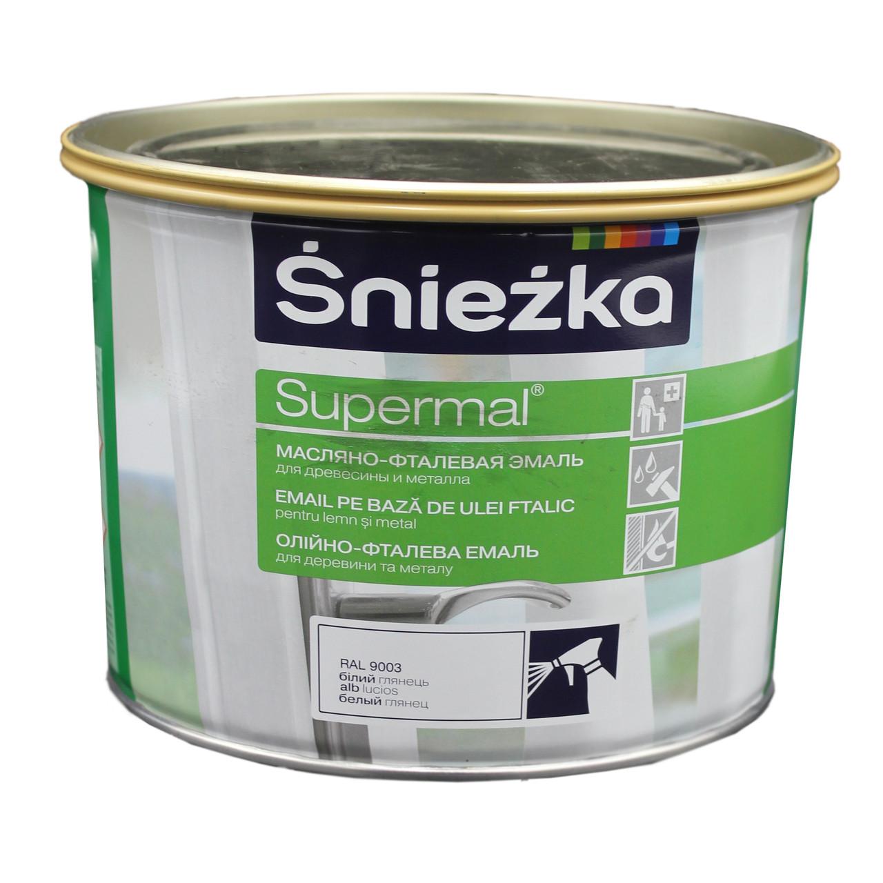 Фарба Sniezka Supermal олійно-фталева біла Г 9003 2,5л PL