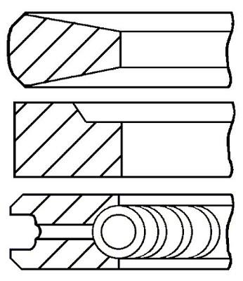 Поршневі кільця R. V. I. 120.0 (3.5/3/4) MIDR 06.20.45 (пр-во групи kolbenschmidt), 800034510000
