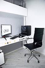 Крісло офісне Sidlo Slim Black ігрове компьютерне крісло офісне крісло профеcіональне