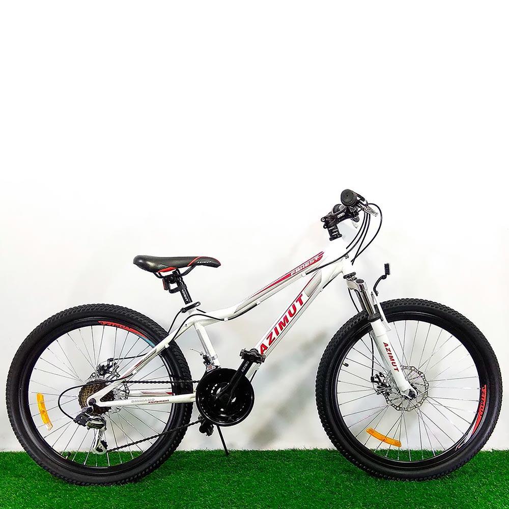 """Подростковый велосипед 24"""" Azimut Forest D бело-красный"""