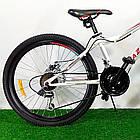 """Подростковый велосипед 24"""" Azimut Forest D бело-красный, фото 4"""