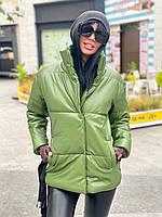 Куртка жіноча екошкіра, куртка коротка екошкіра