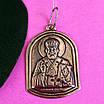 Серебряная ладанка Николай Чудотворец - Святой Николай иконка серебро - Кулон Николай Чудотворец Серебро, фото 3