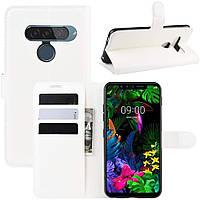 Чехол-книжка Litchie Wallet для LG G8s ThinQ White