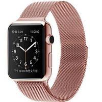 Ремешок металлический Milanese Loop для Apple Watch Rose Gold 42/44