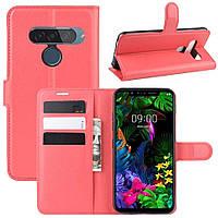 Чехол-книжка Litchie Wallet для LG G8s ThinQ Red