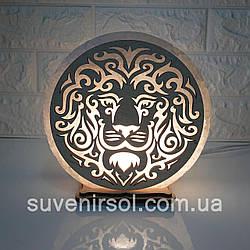 Соляной светильник круглый  Лев