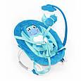 Детский стульчик шезлонг для малыша BT-BB-0002 BLUE с регулировкой спинки и музыкальным мобилем, голубой, фото 2