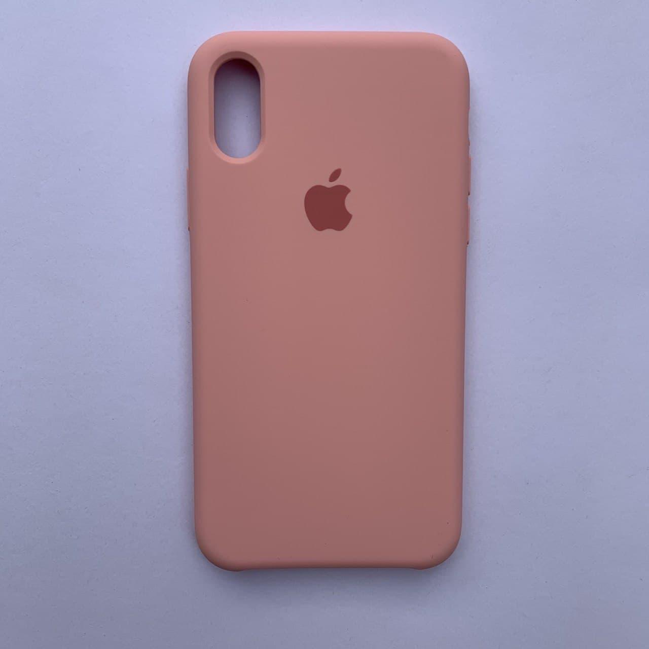 Чехол-накладка Silicone Case для Apple iPhone X iPhone XS Pink