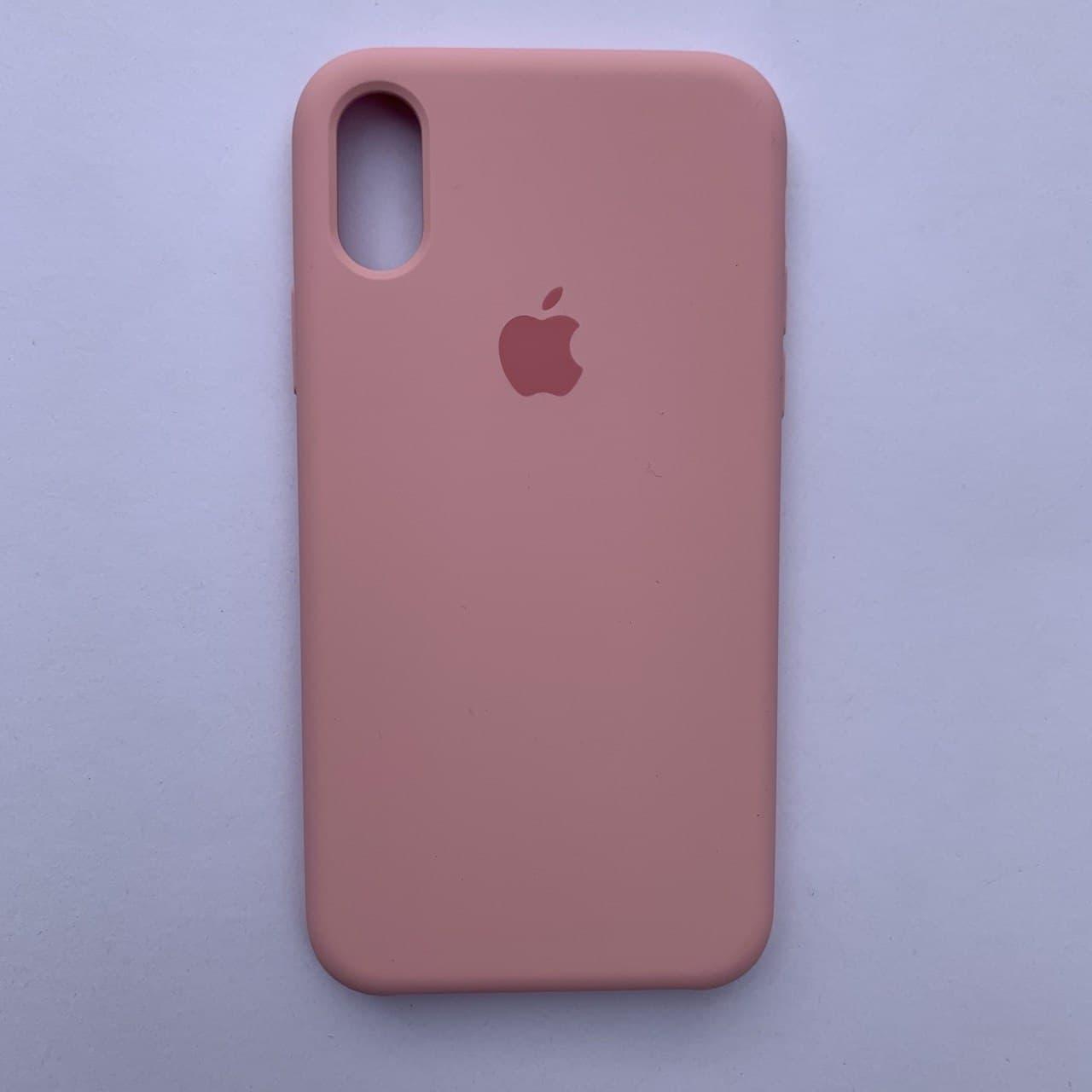 Чехол-накладка Silicone Case для Apple iPhone X iPhone XS Rose pink