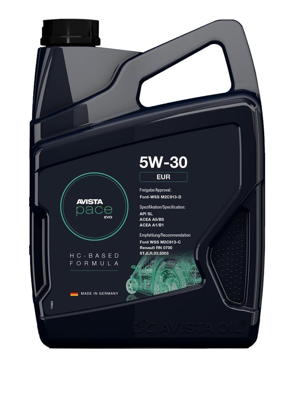 Моторное масло AVISTA pace EVO C3 SAE 5W-30, кан 5л