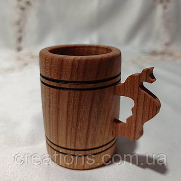 Дерев'яна кухоль, бокал, келих з черешні маленький 40 мл.
