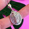 Ладанка иконка Покрова Богородицы - Кулон Покрова Богородицы серебро, фото 5