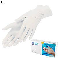 Рукавички вінілові білі, 5 пар (10 штук) , розмір XL