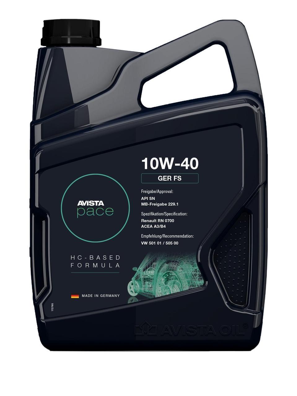 Моторное масло AVISTA pace GER SAE FS 10W-40, кан 5л