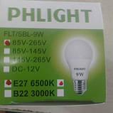 Cветодиодная лампочка LED 6500 K  9 W  PHLIGHT, фото 2