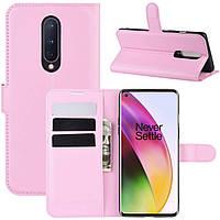 Чехол-книжка Litchie Wallet для OnePlus 8 Pink