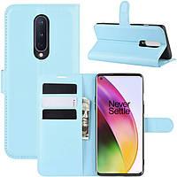 Чехол-книжка Litchie Wallet для OnePlus 8 Blue