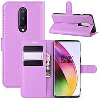 Чехол-книжка Litchie Wallet для OnePlus 8 Violet