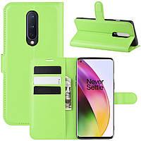 Чехол-книжка Litchie Wallet для OnePlus 8 Green
