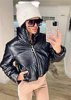 Куртка жіноча екошкіра, екошкіра куртки жіночі Чорний