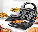 Орешница, бутербродница, вафельница, гриль - тостер ,сендвичница DOMOTEC MS-7704 (4 в 1), фото 4