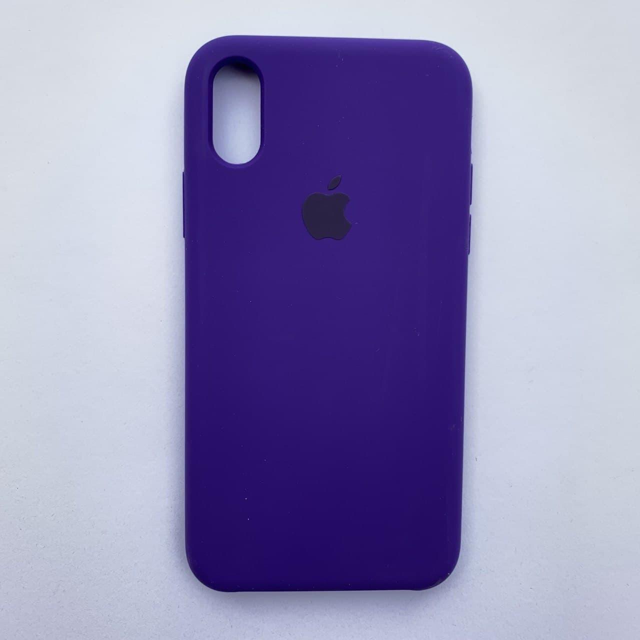 Накладка Silicone Case ARM для Apple iPhone X iPhone XS Ultra violet