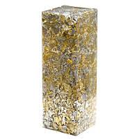 Поталь колір золото і срібло, для декору смоли. Пластівці мікс різного розміру. Упаковка пластик