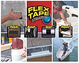 Водонепроницаемая изоляционная клейкая лента скотч 10х150 см Флекс тейп Flex Tape черный, фото 2