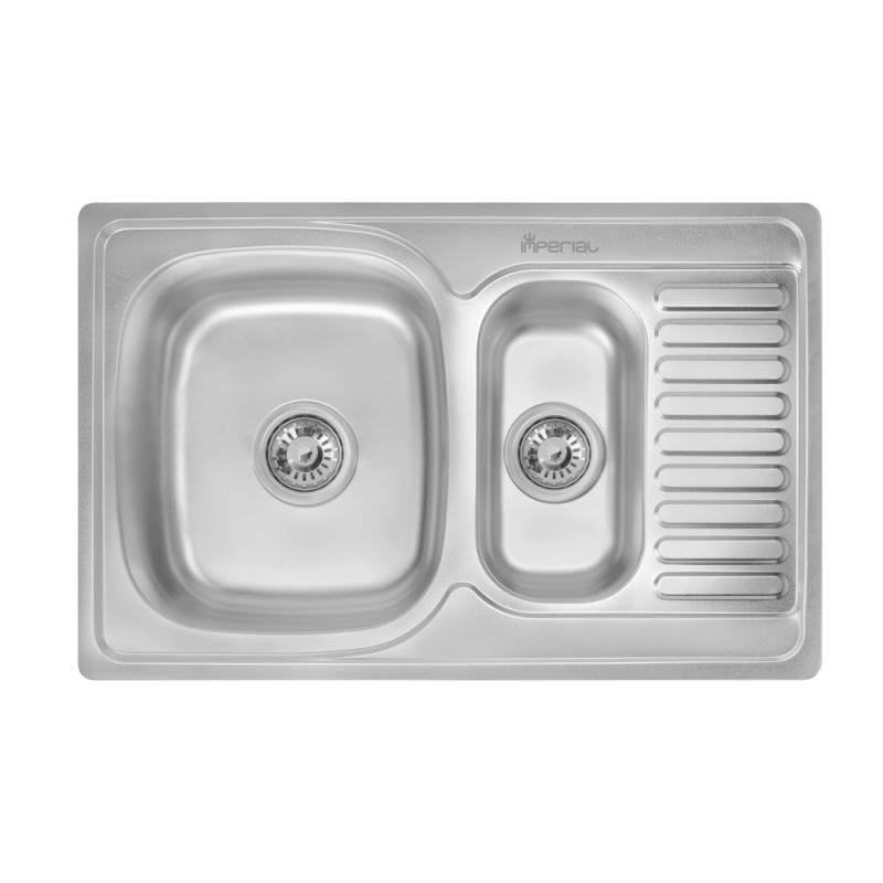 Кухонная мойка Imperial 7850 Decor с доп чашей (IMP7850DECD)