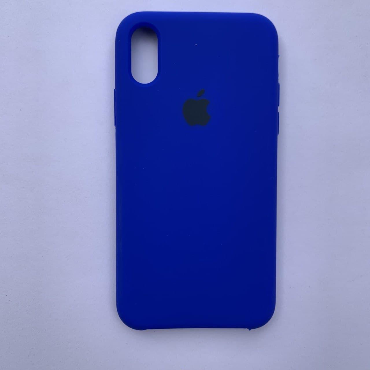 Накладка оригінальна Apple Silicone Case для iPhone X, XS Sapphire Blue