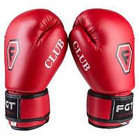 Перчатки боксерские CLUB FGT, Flex, 4oz, красный (для самых маленьких), фото 1