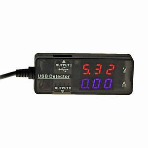 Вольтметр цифровой Lesko KW-203 USB Черный (2794-8587)