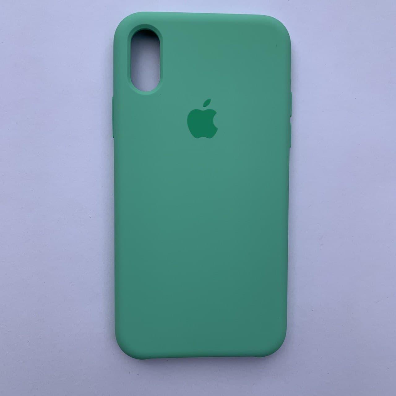 Чехол-накладка Silicone Case для Apple iPhone X iPhone XS Spearmint