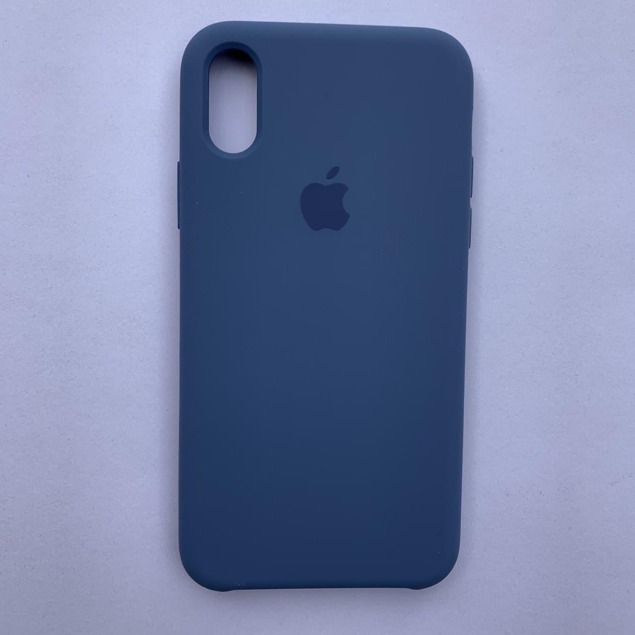 Чехол-накладка Silicone Case для Apple iPhone X iPhone XS Vivid Blue