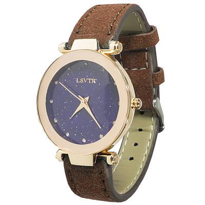 Женские часы LSVTR Fashion Brown (2609-7357)