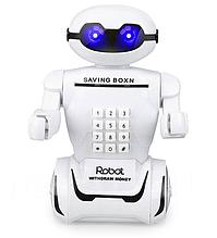 Копилка-сейф Робот 6688 на аккумуляторе с LED-лампой и купюроприемником ZV