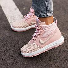 Кроссовки женские Nike Lunar Force в стиле найк форсы розовые (Реплика ААА+)