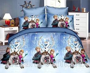 Детский новогодний комплект постельного белья из ренфорса